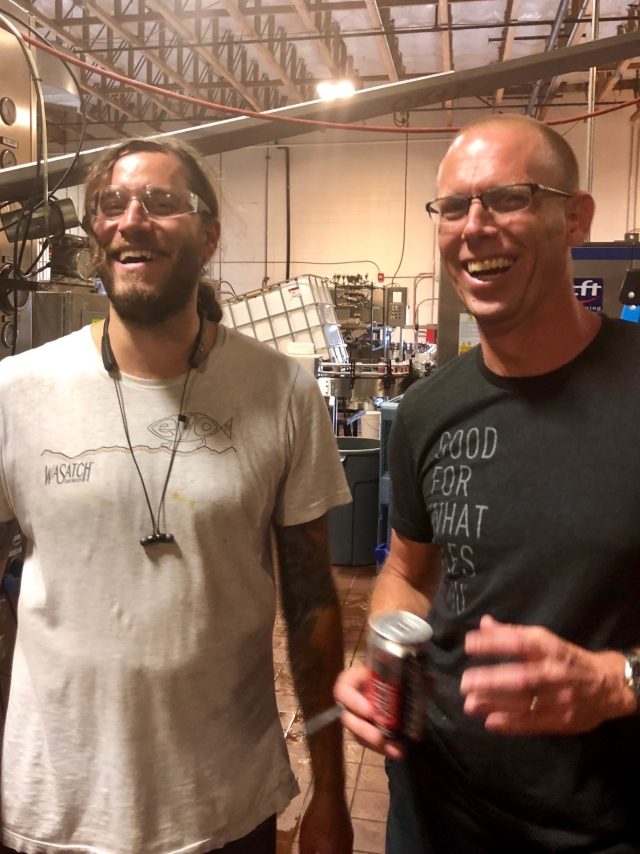 Steve Valienga and Jon Lee of Squatters and Wasatch Beers